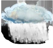 Céu muito nublado (nuvens altas)
